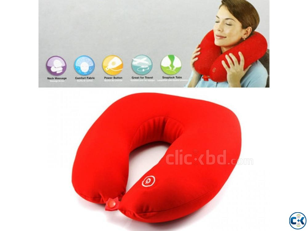 Neck Massager Pillow Vibrating Massage Cushion | ClickBD large image 1