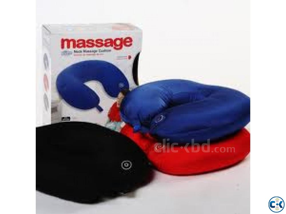 Neck Massager Pillow Vibrating Massage Cushion | ClickBD large image 2