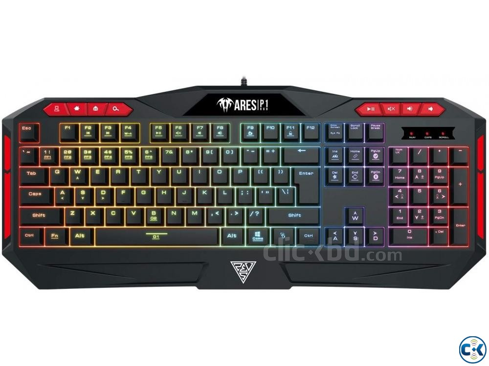 Gamdias Ares P1 RGB Gaming Keyboard | ClickBD large image 0
