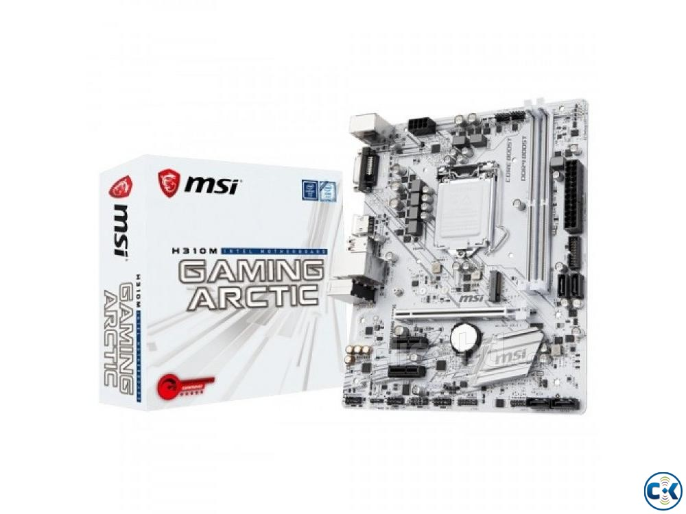 MSI H310M Gaming Arctic 8th Gen DDR4 Motherboard | ClickBD large image 0