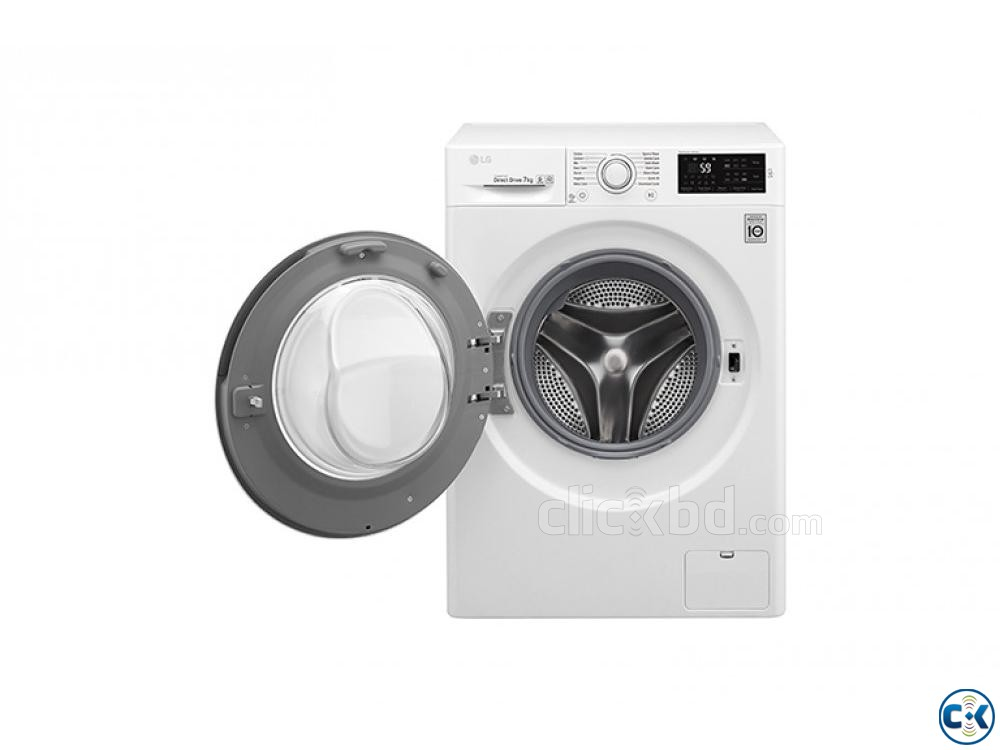 LG F2J5QNP3W FRONT LOAD WASHING MACHINE 7KG | ClickBD large image 3