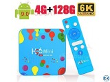 H96 Android 9.0 TV 3D Box - 6K Ultra HD - 4 128GB Rom