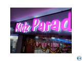 Acrylic 3D Box letter Lighting Signboard Making in Dhaka