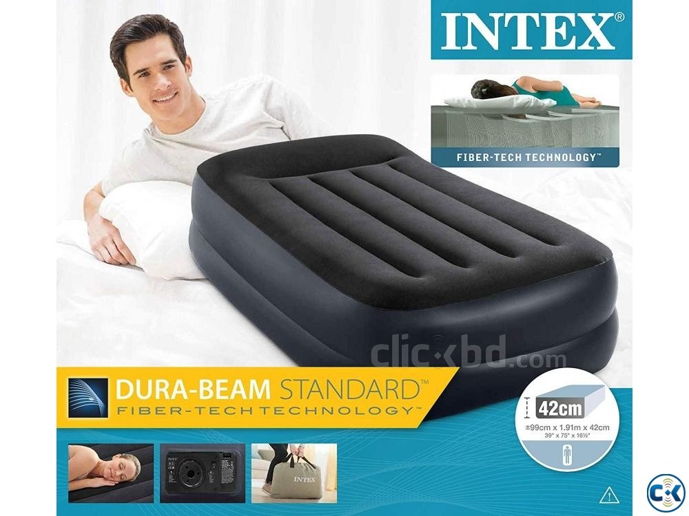 Intex Dura Beam Standard Inflatable Air Bed 16.5 Inch Height | ClickBD large image 0