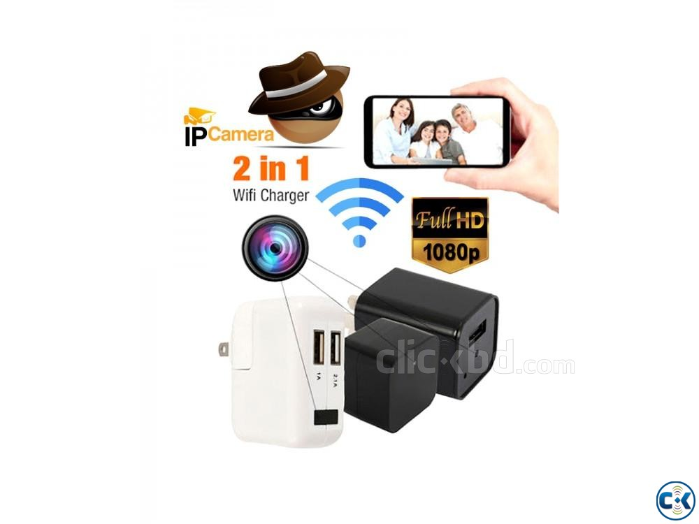 Spy Camera Full-HD Wifi IP Charger Adapter with Voice Record | ClickBD large image 0
