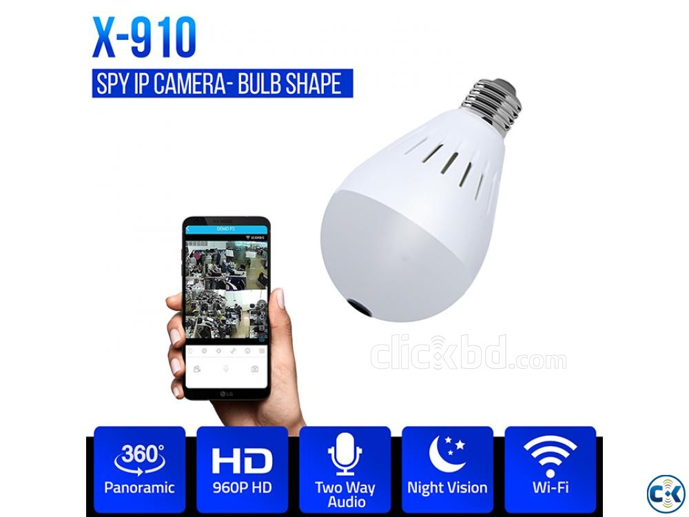 SPY Camera CCTV camera Spy Bulb WiFi IP Camera 360 degree | ClickBD large image 0
