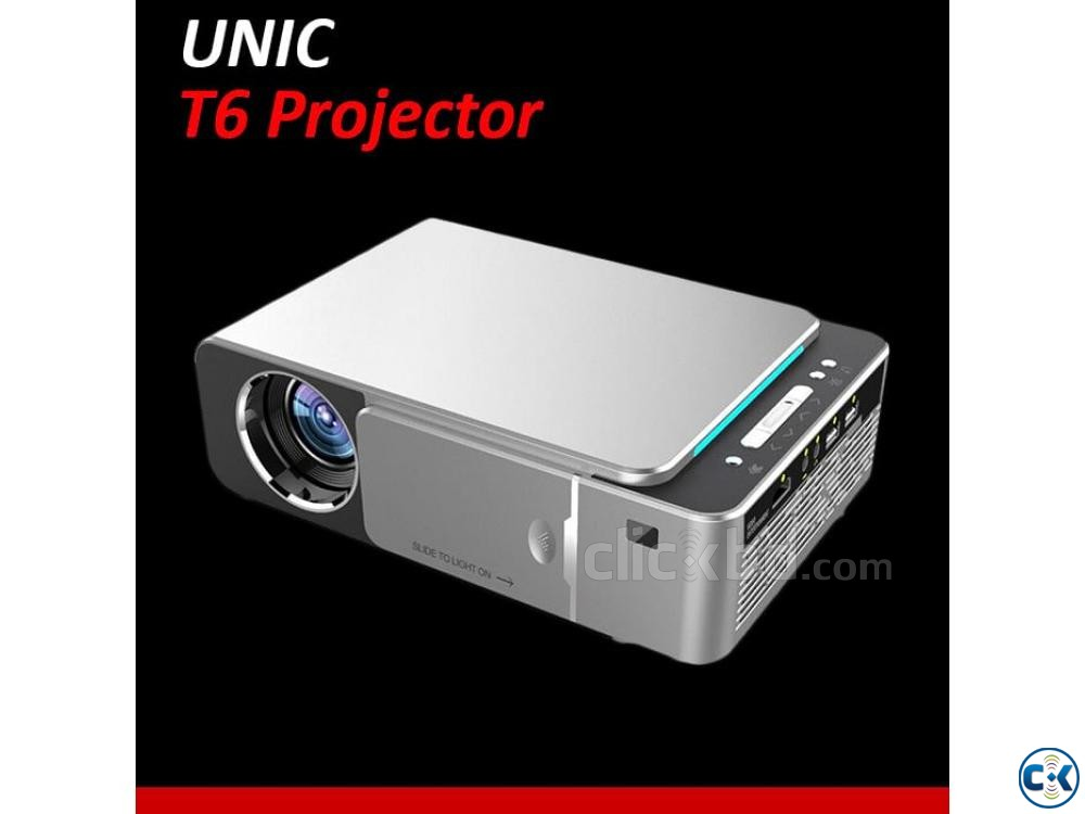 T6 UNIC Multimedia Projector 3D HD Mini LED Projector | ClickBD large image 0