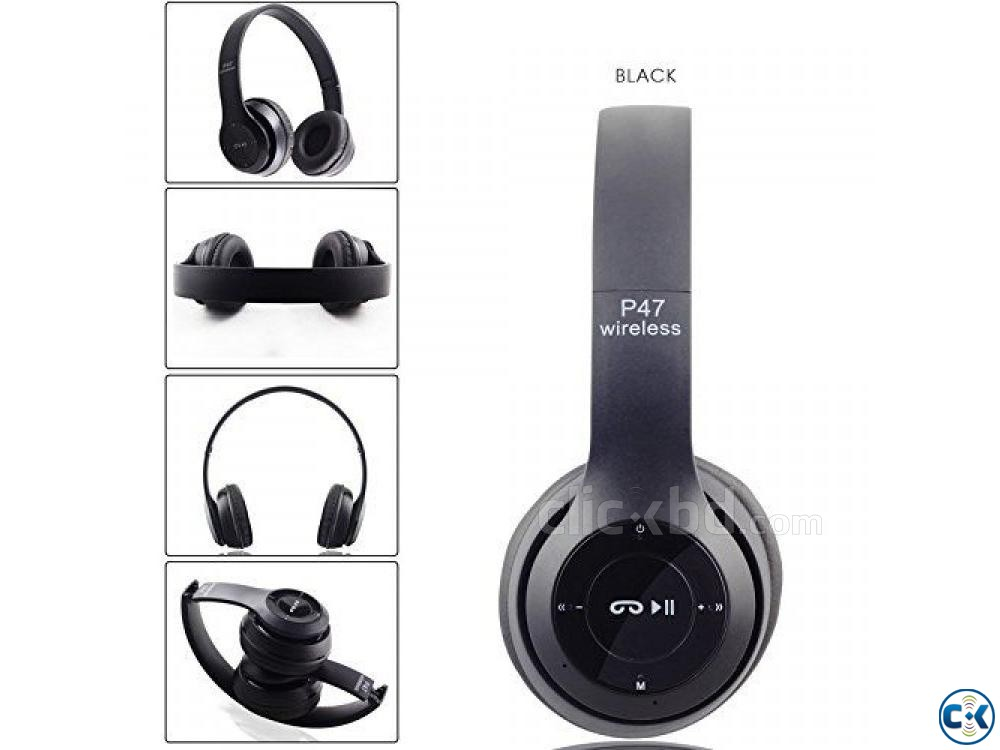 P47 - Wireless Bluetooth Headphone Multicolor | ClickBD large image 0