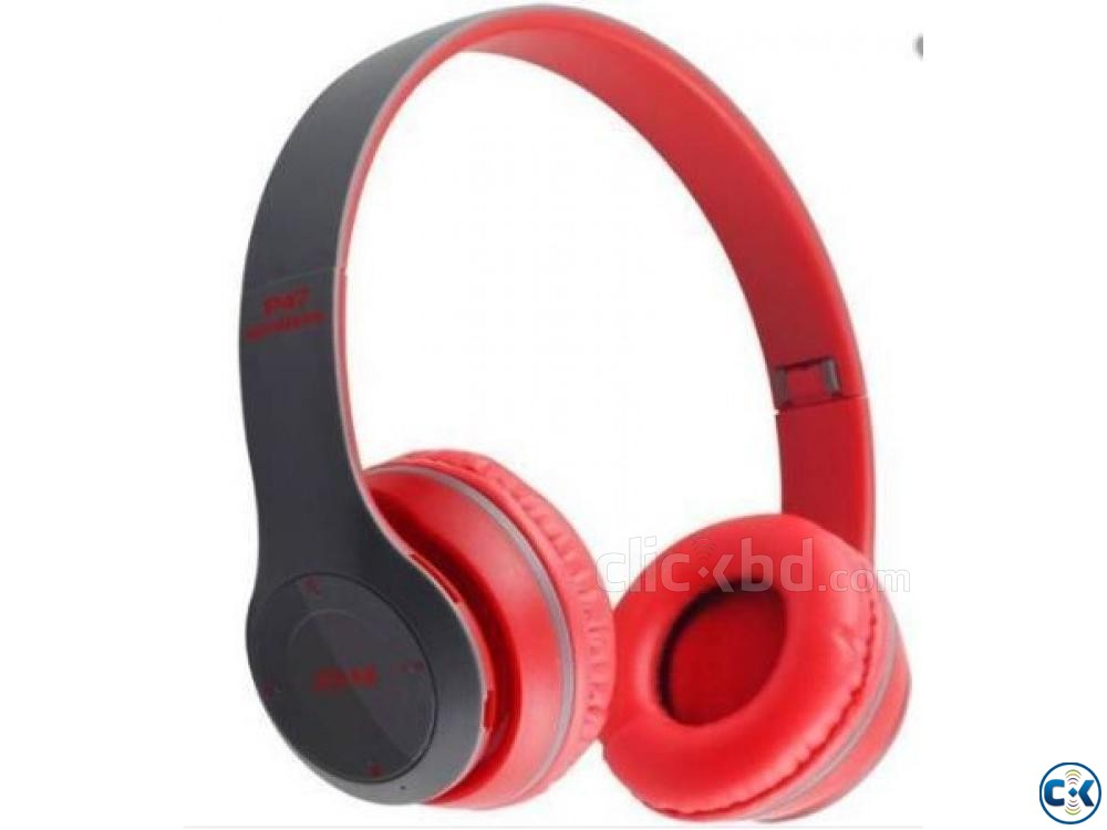 P47 - Wireless Bluetooth Headphone Multicolor | ClickBD large image 1