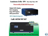 Luminous Zelio IPS UPS 1100 va 756 watt Imported Sine Wave