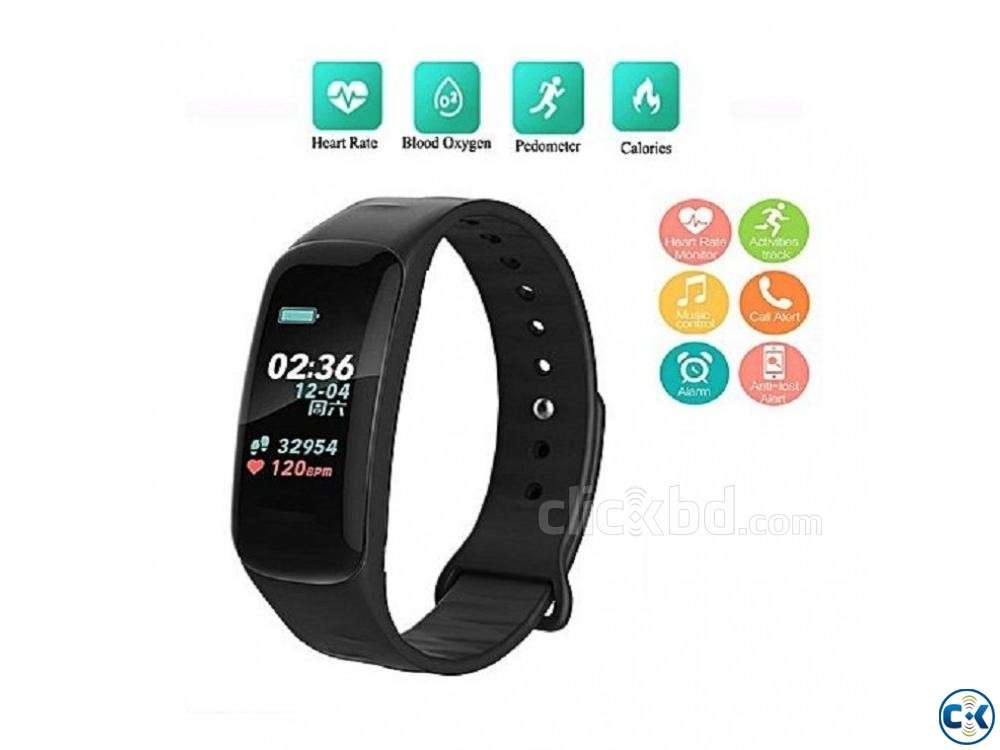 C1 Plus Smart Band Color Screen Blood Pressure Waterproof | ClickBD large image 2