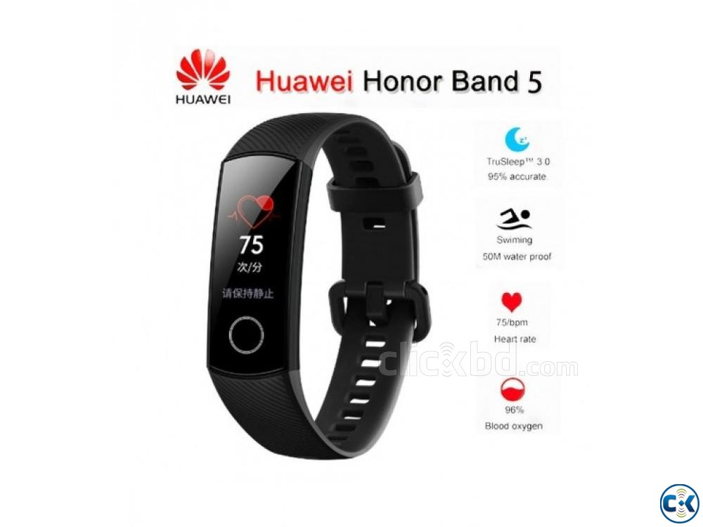 Huawei Honor Band 5 Waterproof AMOLED Touch Screen | ClickBD large image 0