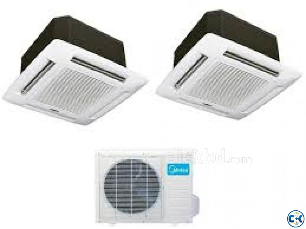 Midea 4 Ton Cassette Ceiling Type MCA-48CRN Air Conditioner | ClickBD large image 1