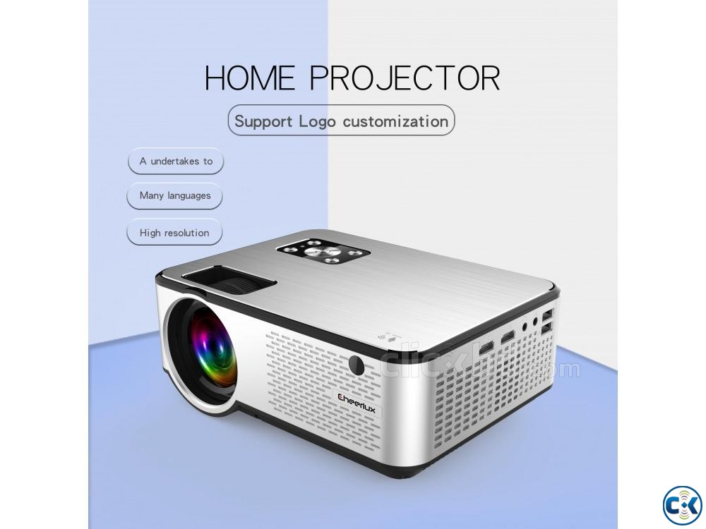 2800 Lumens Mini Led Projector C9 With Built in TV | ClickBD large image 1