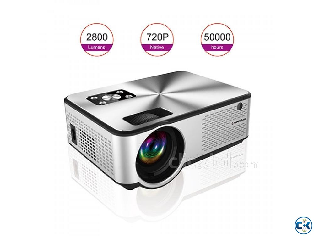 2800 Lumens Mini Led Projector C9 With Built in TV | ClickBD large image 2