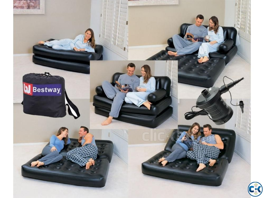 5 in 1 Air Bed Sofa Cum Bed New Version | ClickBD large image 3