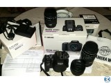 Canon 200D with 18-55mm 50mm 55-250mm lenses