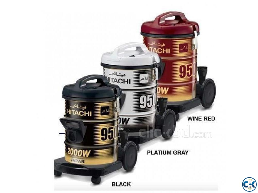 Hitachi Pail Can Type Vacuum Cleaner CV-950Y - 18.0L - Wine | ClickBD large image 2
