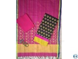 Handloom Tant with Screen Print