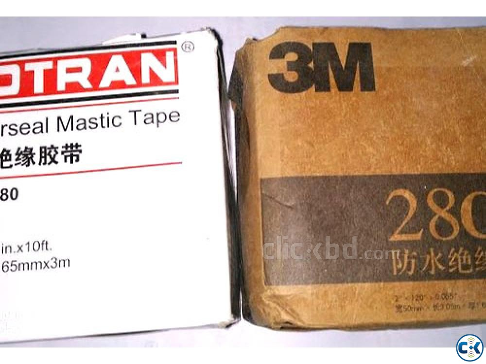 Black Rubber Mastic Tape Cotran KC80 Length 3 m | ClickBD large image 1