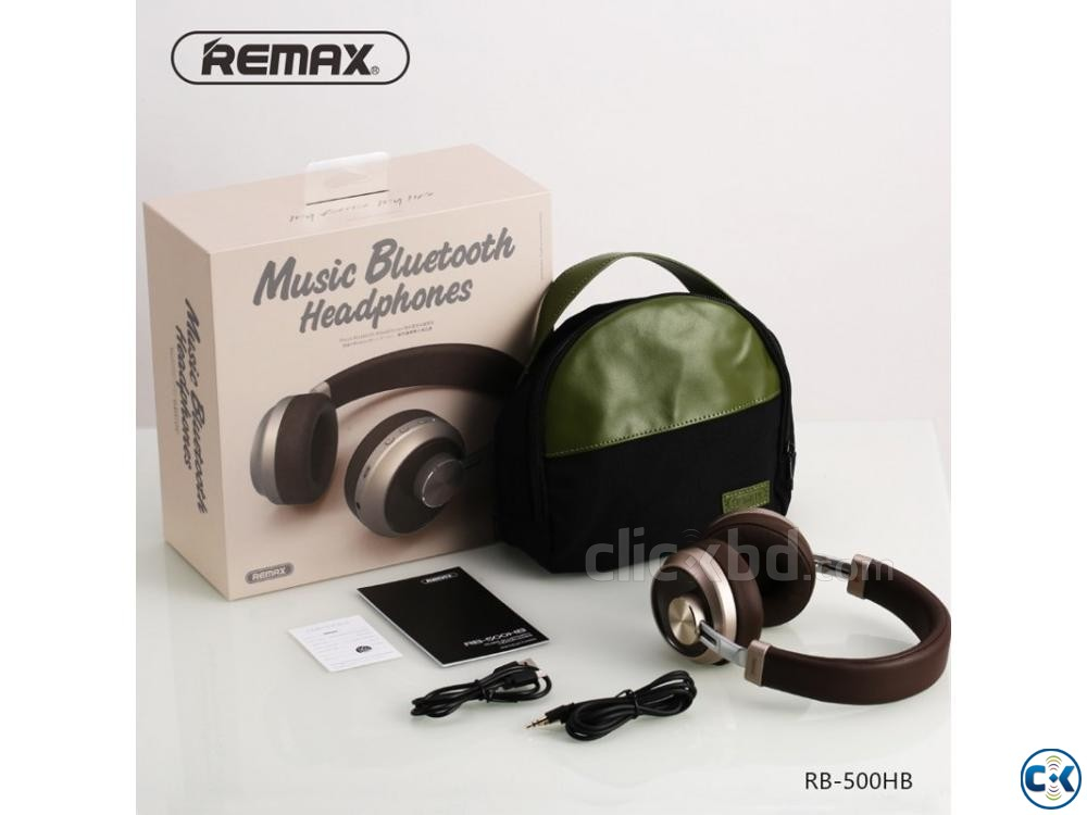 Remax 500HB Wireless Bluetooth Headphone | ClickBD large image 1