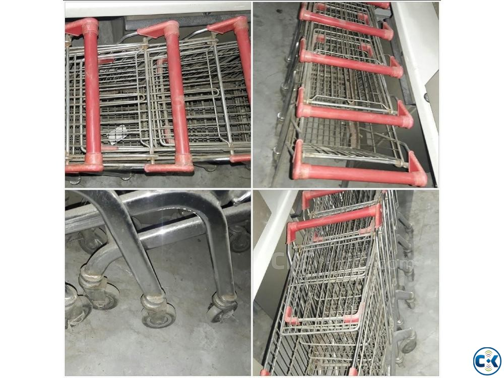 Metal shopping trolley | ClickBD large image 0