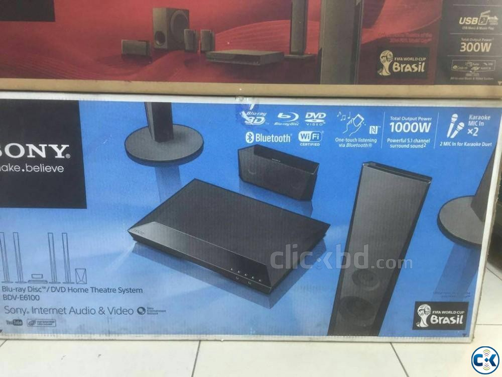 New Sony BDV-E6100 5.1 Blu-Ray Home Theater With Bluetooth | ClickBD large image 3