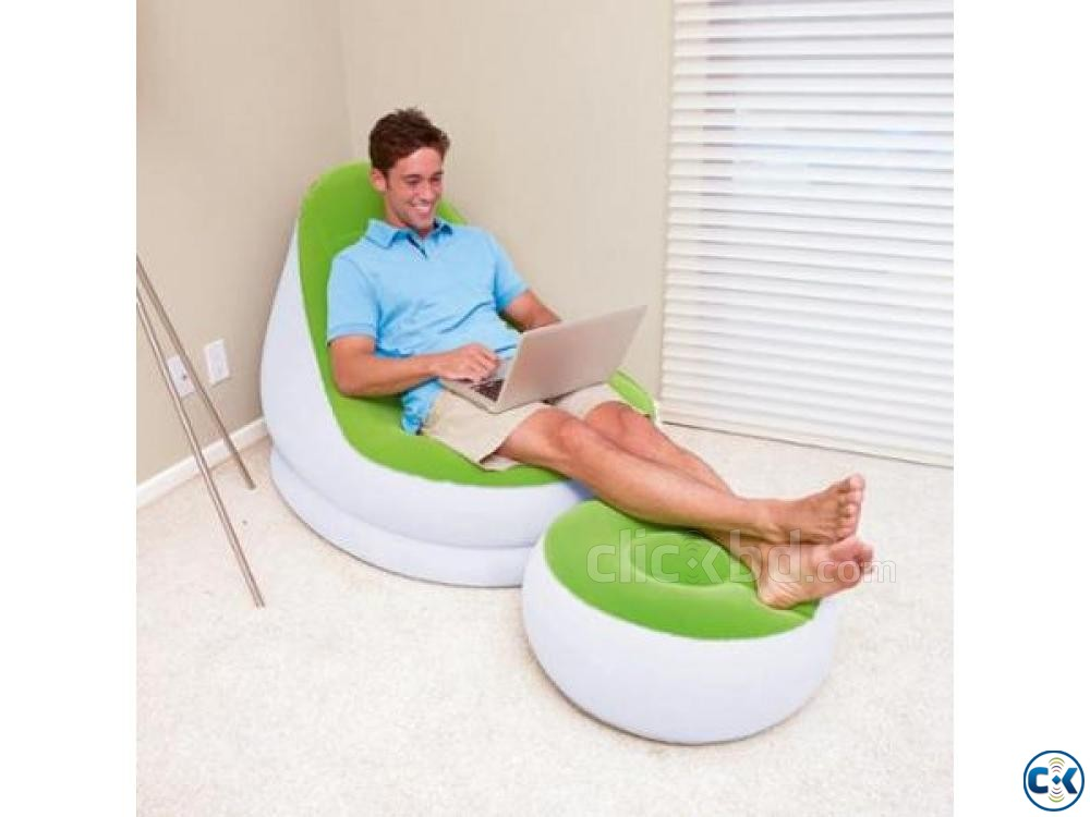 2 in 1 Air Chair And Footrest Free Pumper | ClickBD large image 0