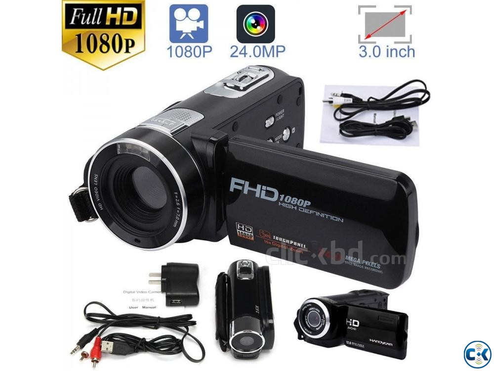 F3 Video Camera 3.0 inch Touch Display Camcorder 24.0MP | ClickBD large image 0