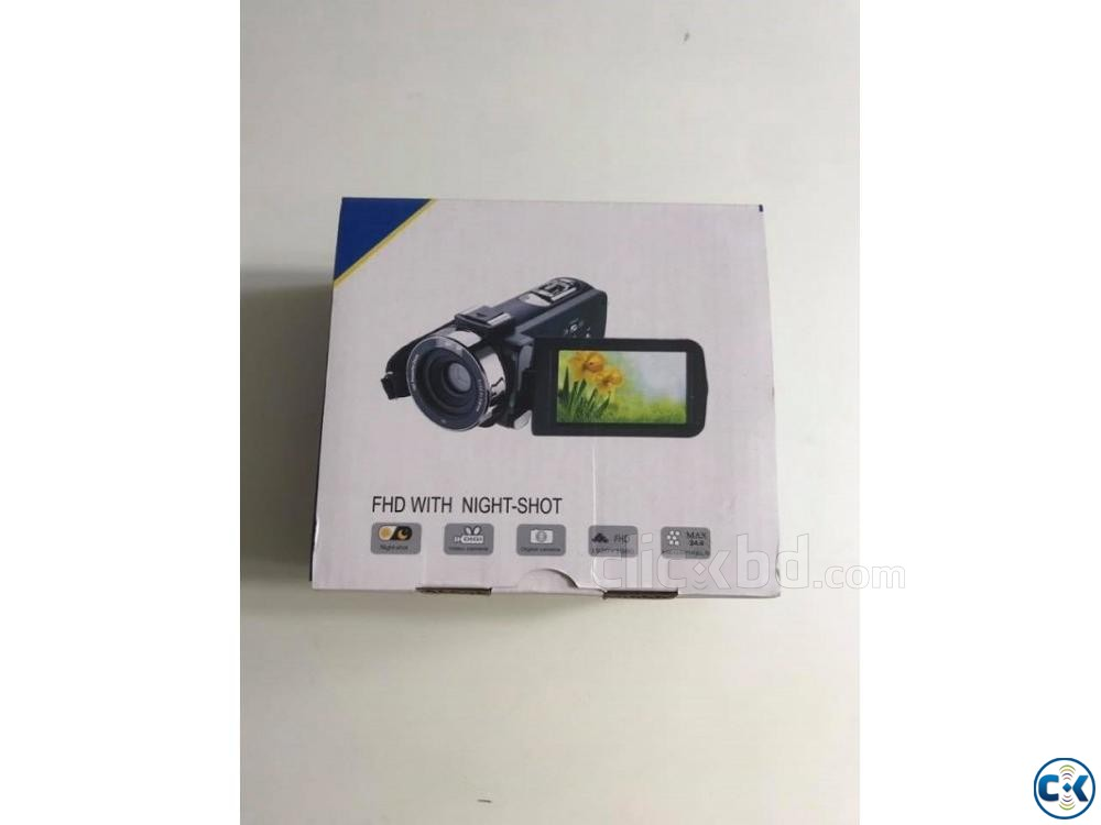 F3 Video Camera 3.0 inch Touch Display Camcorder 24.0MP | ClickBD large image 2