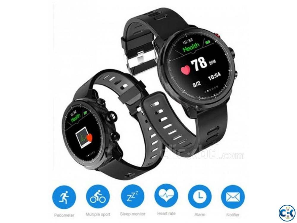 Microwear L5 Smartwatch Water-proof Heart Rate BP | ClickBD large image 2