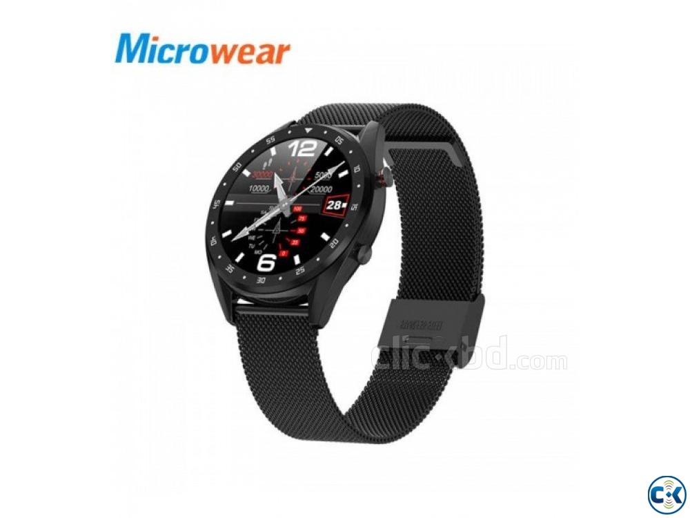 Microwear L7 Smartwatch Waterproof Heart Rate Monitoring | ClickBD large image 0