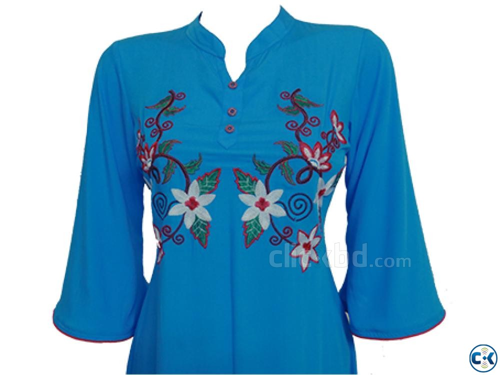 Embroidery Printed Single Casual Kameez For Woman | ClickBD large image 1
