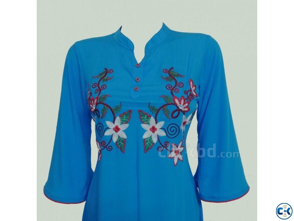 Embroidery Printed Single Casual Kameez For Woman | ClickBD large image 2