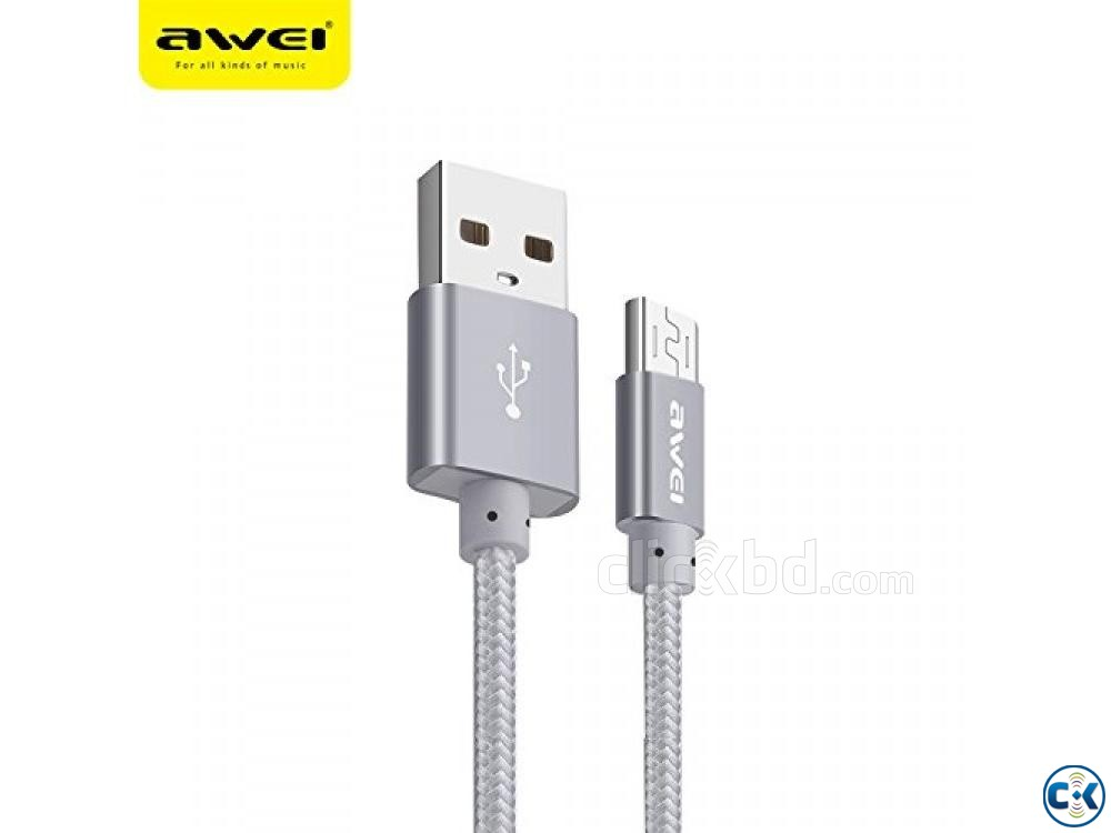 AWEI CL-10 Fast Data Cable For Power Bank | ClickBD large image 0