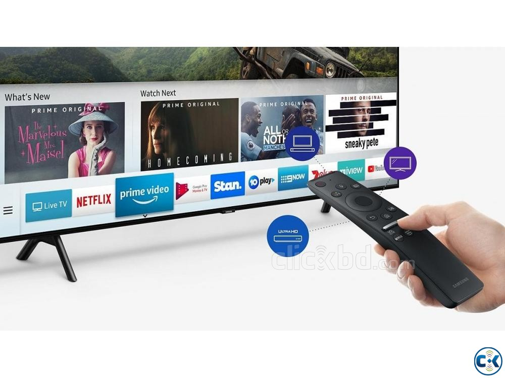 Samsung Q75R 55 Flat 4K UHD QLED Android TV 2019 | ClickBD large image 0