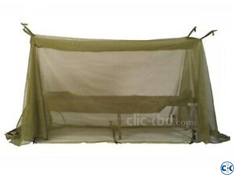 Single Person Army Mosquito Net-Khaki-  | ClickBD large image 0