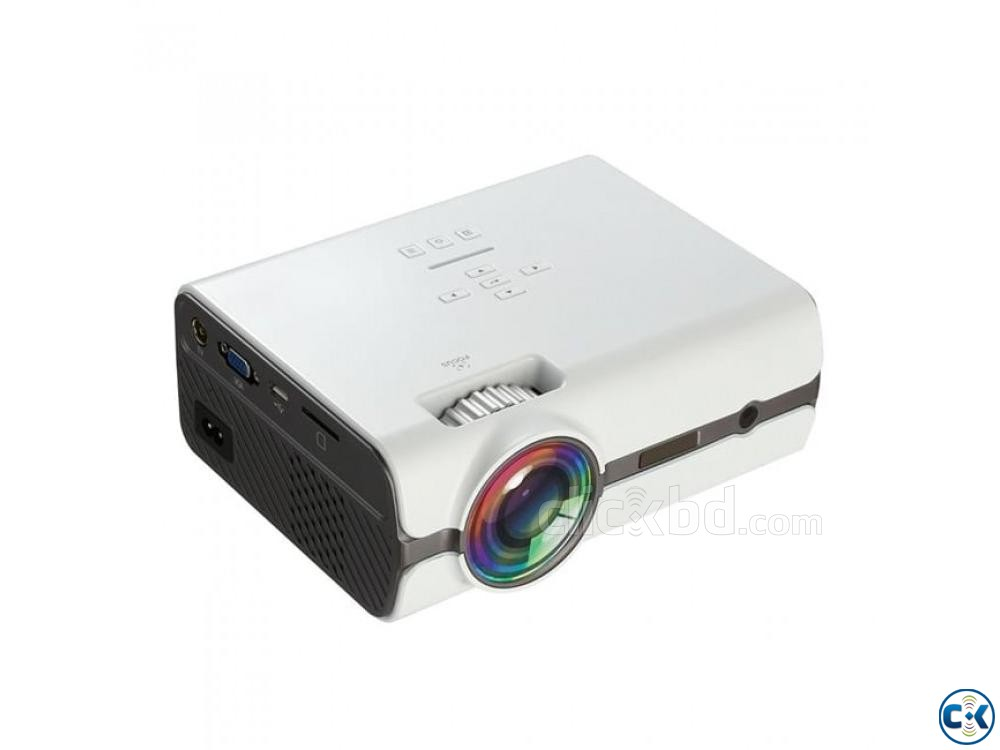 New Multimedia Mini Projector TV Port Projector 3D HD LED | ClickBD large image 0