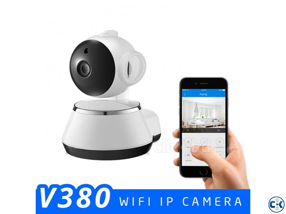 V380 Wifi IP Camera HD 360 degree ip Camera CCTV IP Camera | ClickBD large image 0