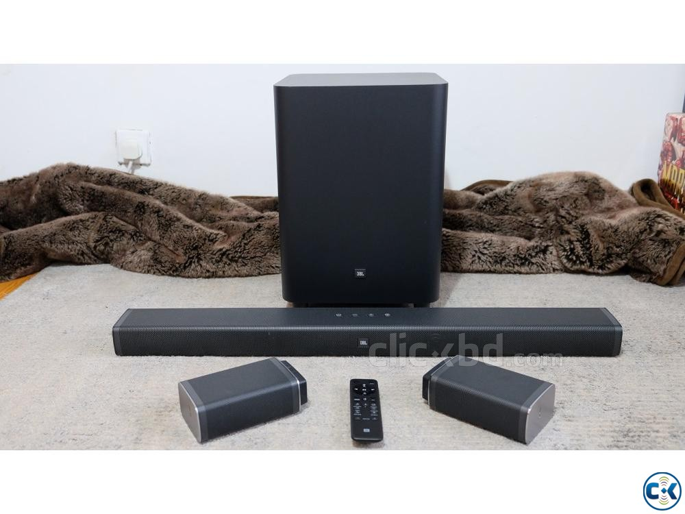 New JBL Bar 5.1 Soundbar with True Wireless Surround Speaker | ClickBD large image 0