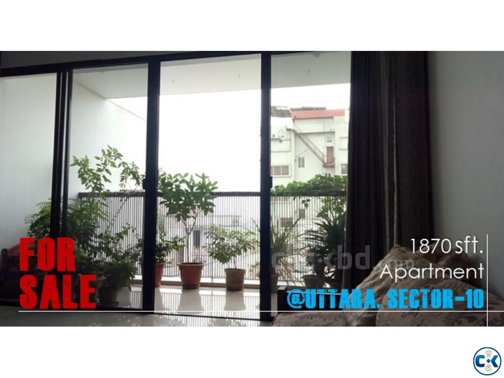 1870 sqft. finest flat used for Sale at Uttara Sector 10 | ClickBD large image 0