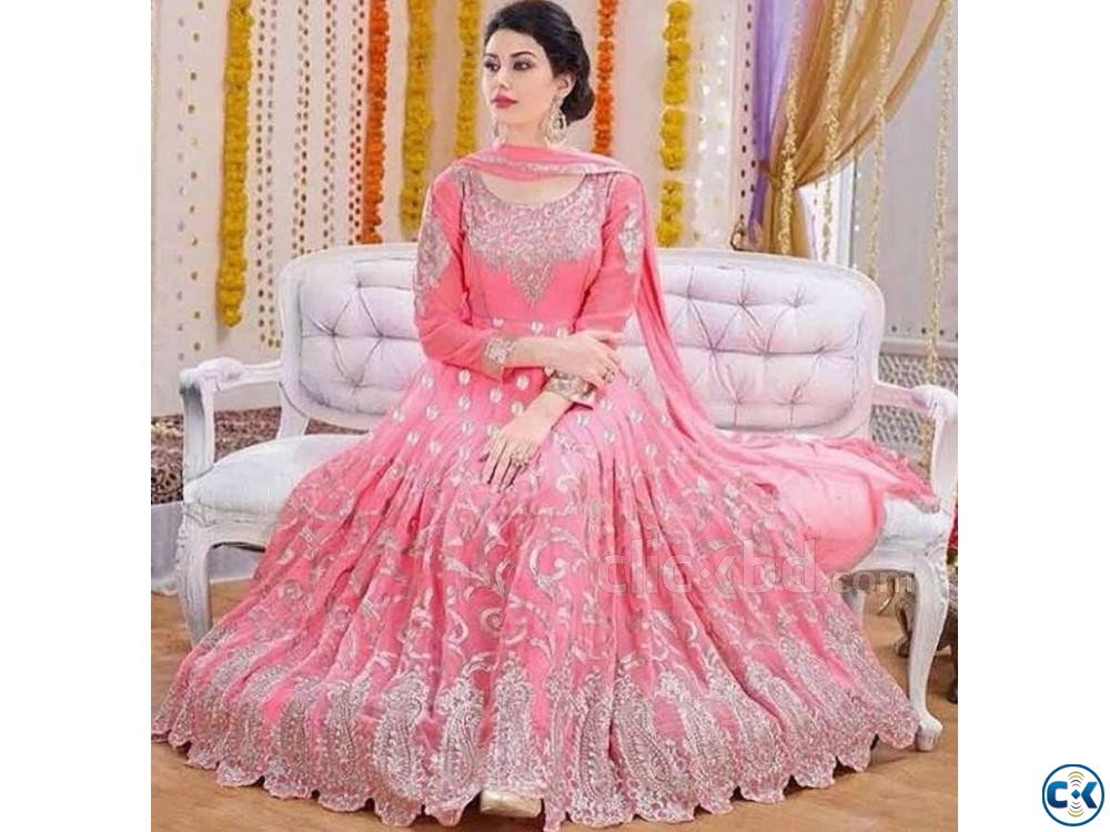 Heavy Bridal New Party wear Anarkali Ethnic Gown | ClickBD large image 0