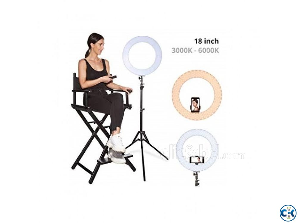 YE 18 Photo Video Selfie Makeup Professional LED Ring Light | ClickBD large image 0