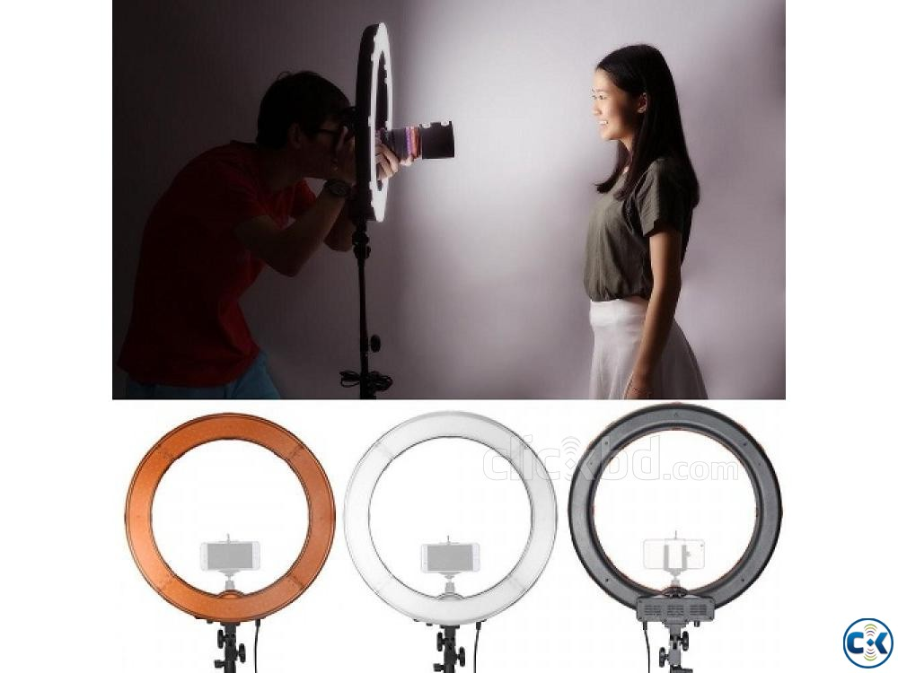 YE 18 Photo Video Selfie Makeup Professional LED Ring Light | ClickBD large image 1