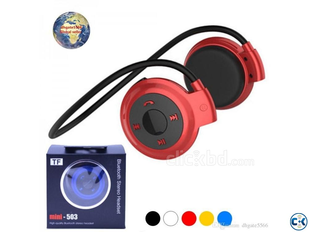 503 Bluetooth Headset FM Memory card 01611288488 | ClickBD large image 2