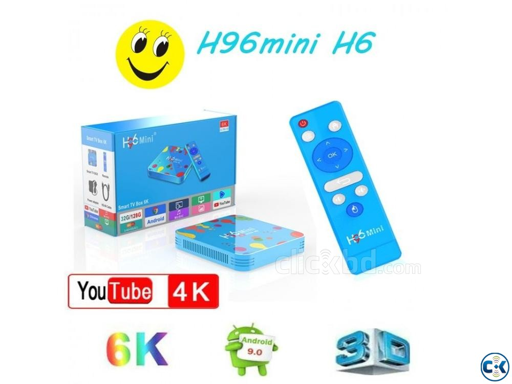 H96 Android 9 4GB RAM 128GB ROM 5G WIFI bluetooth | ClickBD large image 2