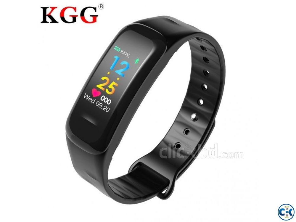 C1 Plus Smart Band Color Screen Blood Pressure Waterproof | ClickBD large image 0