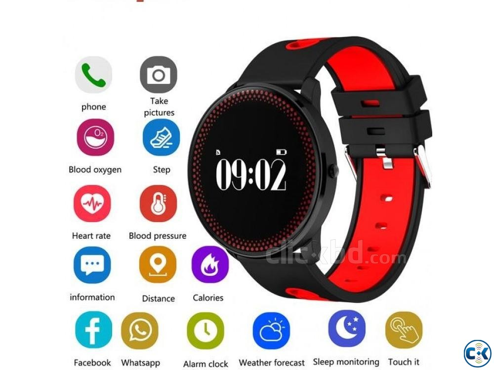 Cf007 Smart Watch Fitness Tracker Blood Pressure Heart Rate | ClickBD large image 2