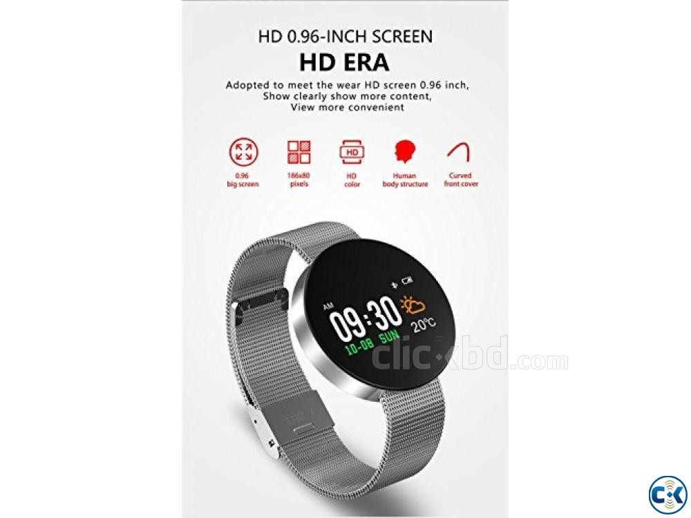 CF008 Smartwatch fitness tracker Heart Rate Blood Pressure | ClickBD large image 3