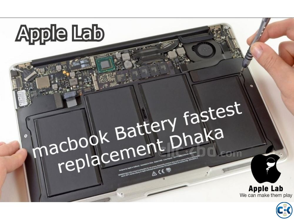 macbook Battery fastest replacement Dhaka | ClickBD large image 0